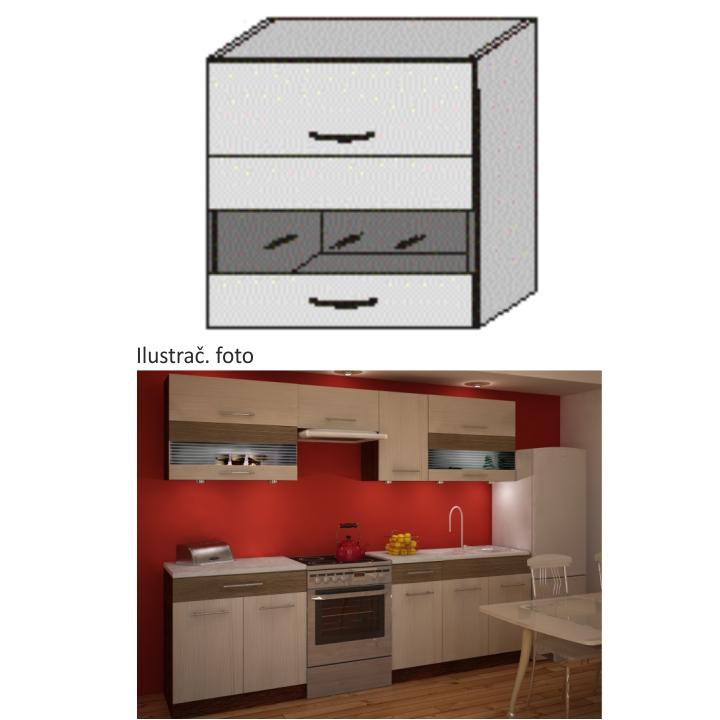 Kuchyňská skříňka, rigoleto light/dark/sklo, JURA IA OGW1-80
