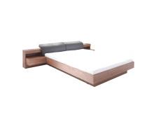 Manželská postel, 160x200, ořech / grafit, REKATO