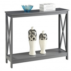 Konzolový stolek, tmavě šedá, SONET
