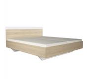 Manželská postel, 160x200, dub sonoma / bílá, GABRIELA