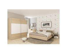 Ložnicový komplet (postel 160x200 cm), dub sonoma / bílá, GABRIELA