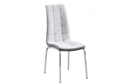 Jídelní židle, šedá / chrom, GERDA NEW