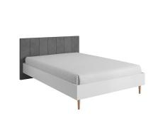 Manželská postel, bílá / šedá, Lavele LLO160