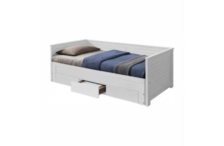 Rozkládací postel, bílá, GORETA
