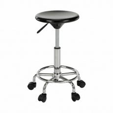 Židle, černá/chrom, MABEL 3 NEW