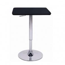 Barový stůl s nastavitelnou výškou, černá, 84-110, FLORIAN