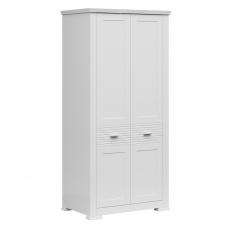 Věšáková skříň, bílá, ARYAN 2D
