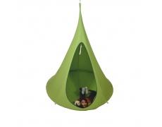 Závěsné houpací křeslo, zelená, KLORIN NEW KIDS CACOON HAMMOCK