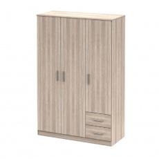 Třídveřová skříň, dub sonoma, NOKO-SINGA  84