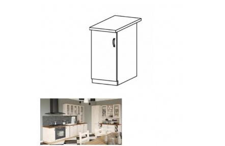Spodní skříňka, bílá/sosna skandinávská, levá, ROYAL D40