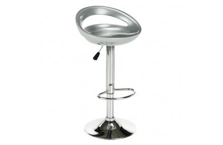 Barová židle, stříbrná / chrom, Dongo NOVE