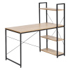 PC stůl / víceúčelový praktický stůl, dub / černá, VEINA