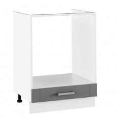 Spodní sporáková skříňka, tmavě šedá/bílá, JULIA TYP 58