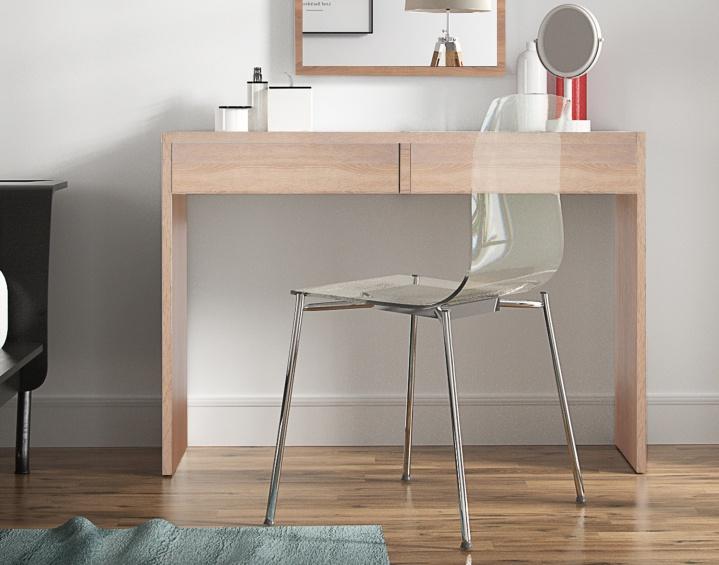 Toaletní stolek / psací stůl, dub sonoma, VIOLET