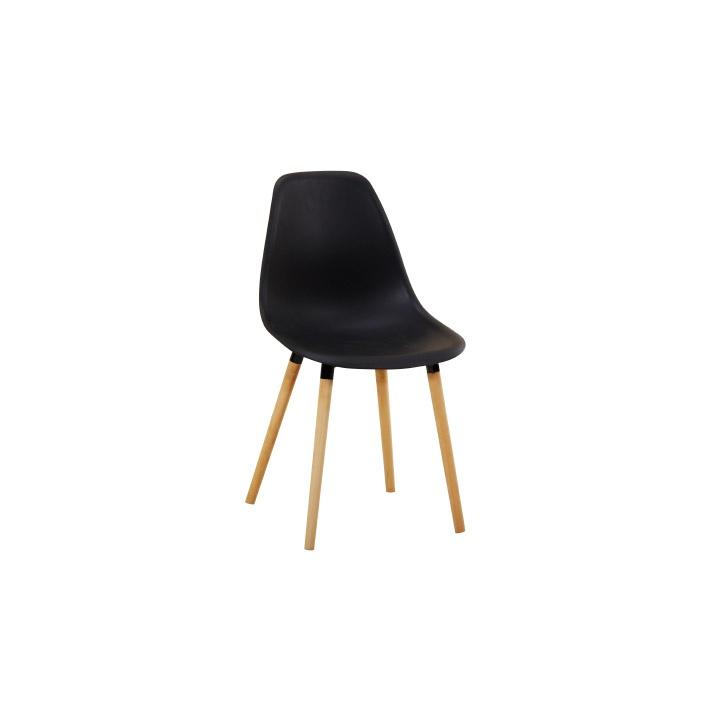 Židle, černá plast / buk, KALISA