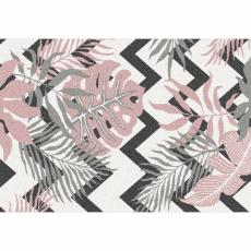 Koberec, vícebarevný, vzor listy, 100x150, SELIM
