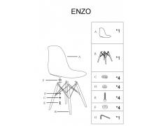Jídelní židle ENZO bílé