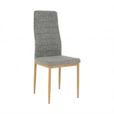 Židle, světlešedá látka / buk, COLETA NOVA