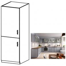 Vysoká skříňka, šedá matná / bílá, levá, LAYLA D60R