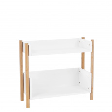 2-poličkový regál, přírodní bambus/bílá, BALTIKA TYP 1