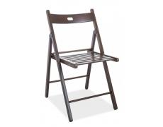 Jídelní skládací židle Smart II celodřevěná ořech