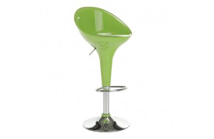 Barová židle, zelená / chrom, ALBA NOVA