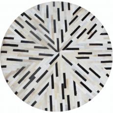 Luxusní koberec, pravá kůže, 150x150, KŮŽE TYP 8