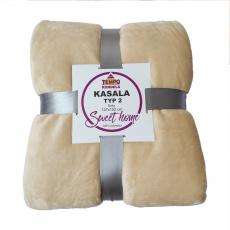 Oboustranná deka, béžová, 127x152, KASALA TYP 2