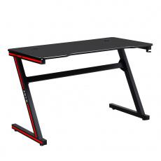 Herní stůl / počítačový stůl, černá / červená, MACKENZIE 120cm