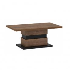 Konferenční stolek, dub bolzano / černá, DELIS T