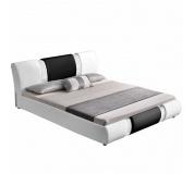Moderní postel, bílá / černá, 180x200, LUXOR