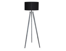 Stojací lampa, černá/šedá, JADE Typ 10