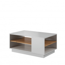 Konferenční stolek, bíla/dub craft zlatý, TRIO
