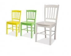 Jídelní židle CD 57 celodřevěná bílá