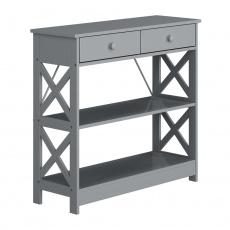 Konzolový stolek, šedá, LOMIR