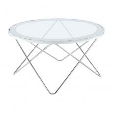Konferenční stolek, chrom / čiré sklo, LEONEL
