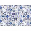 Koberec, modrokrémová, 80x200, PARLIN