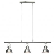 Visící lampa v retro stylu, kov, matný nikl, AVIER TYP 4
