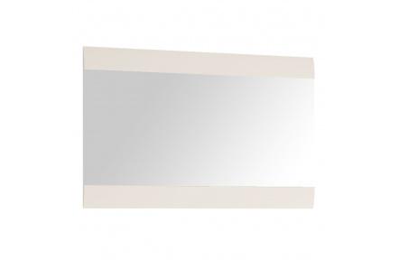 Zrcadlo malé, bílá extra vysoký lesk HG, LYNATET TYP 122