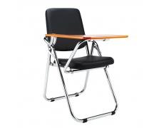 Židle s deskou na psaní, černá/přírodní, SONER