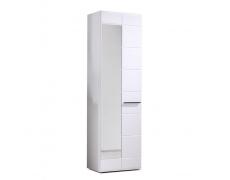 Předsíňová skříň, bílá / bílá extra vysoký lesk, DERBY