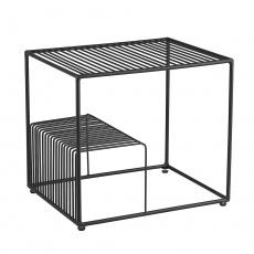 Příruční stolek, černá/kov, WILOV