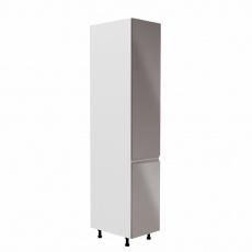 Potravinová skříňka, bílá / šedá extra vysoký lesk, pravá, AURORA D40SP