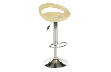 Barová židle, béžová / chrom, Dongo NOVE