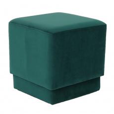 Taburet, smaragdová Velvet látka, Alim