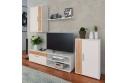 Obývací stěna, bílá/dub artisan, KEVIN