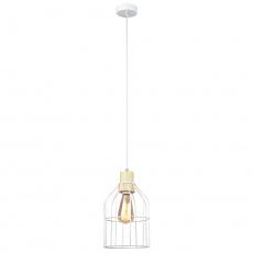 Visící lampa, bílá / kov, ASTOK