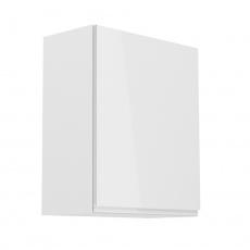 Horní skříňka, bílá / bílý extra vysoký lesk, pravá, AURORA G601F