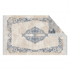 Oboustranný koberec, vzor / modrá, 180x270, GAZAN