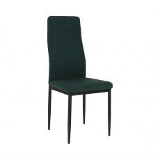 Židle, smaragdová látka / černý kov, COLETA NOVA